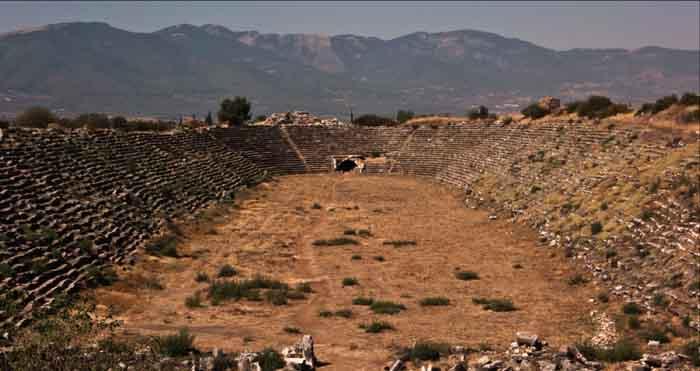 Bei Aydin, an der Südküste der Türkei baut Nordex Windenergieanlagen.