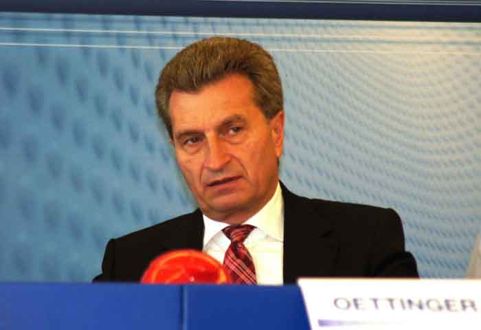 Günther Oettinger, EU Energiekommissar