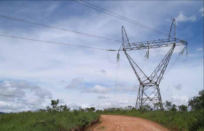 Hochspannungsmasten Brasilien