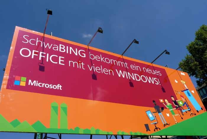 Microsoft baut in München Schwabing