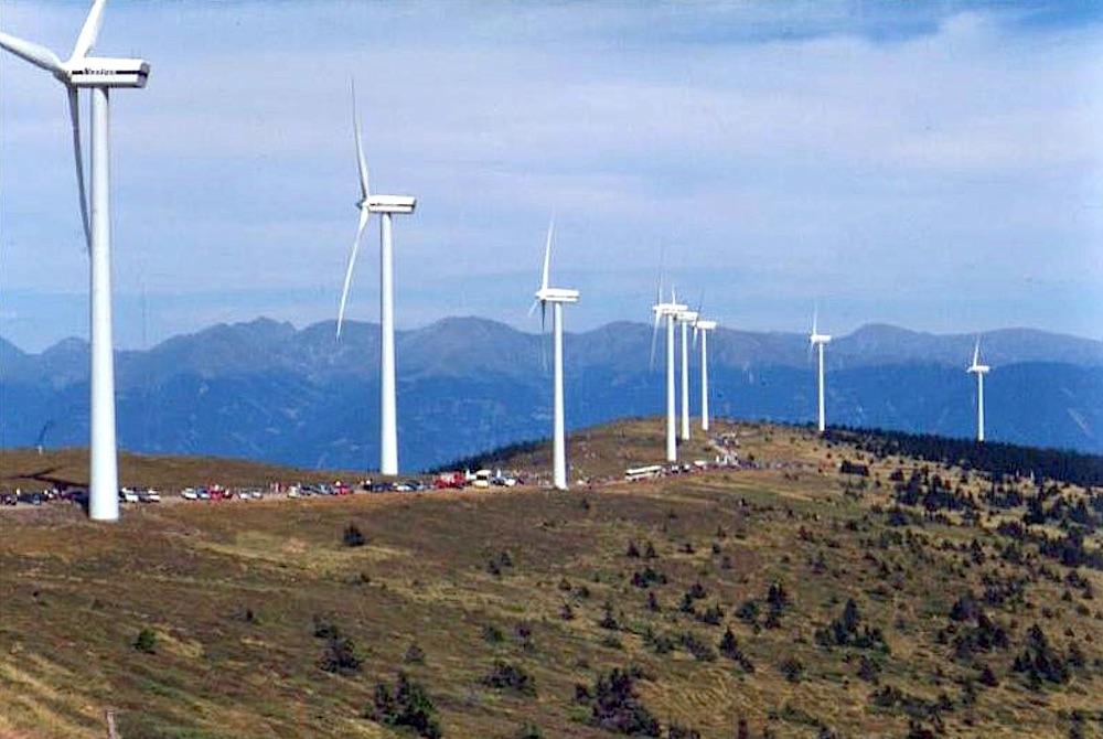 Windpark in Österreich