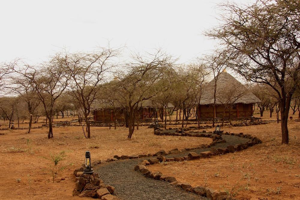 Hütten in Afrika