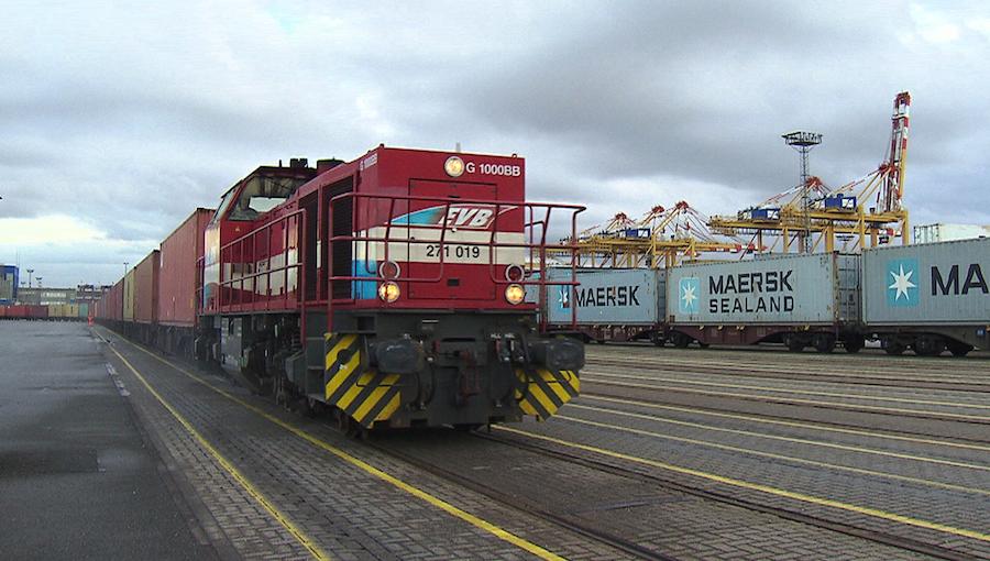 Eisenbahn im Hafen
