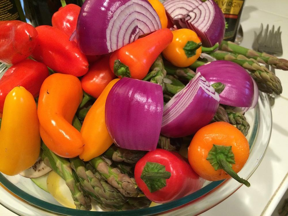 Gemüse und Paprika