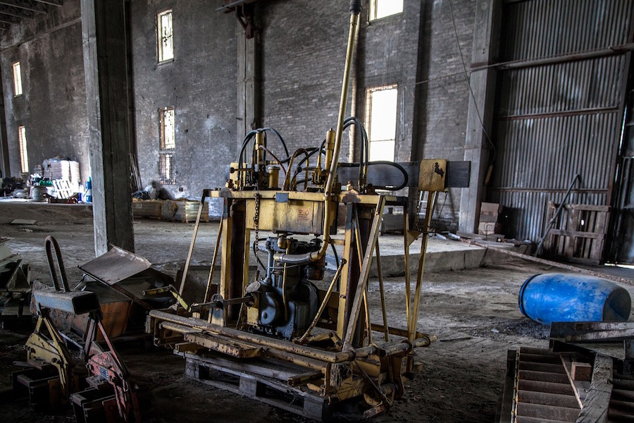 Leere Maschinenhalle