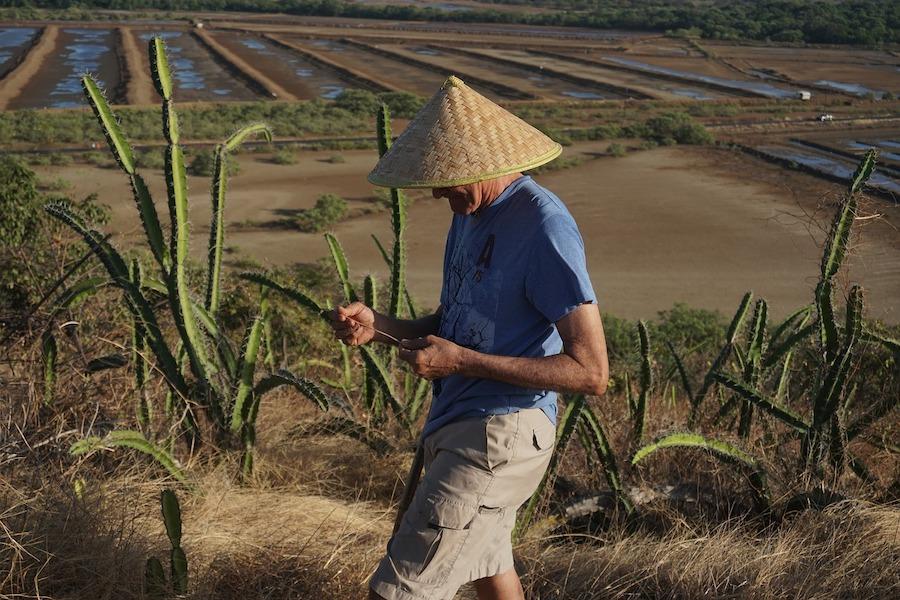 China Landwirt auf dem Feld