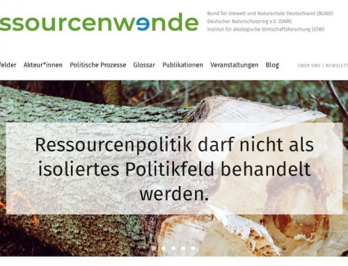 Ressourcenwende.net: Diskussionsplattform für NGOs und Wissenschaft gestartet