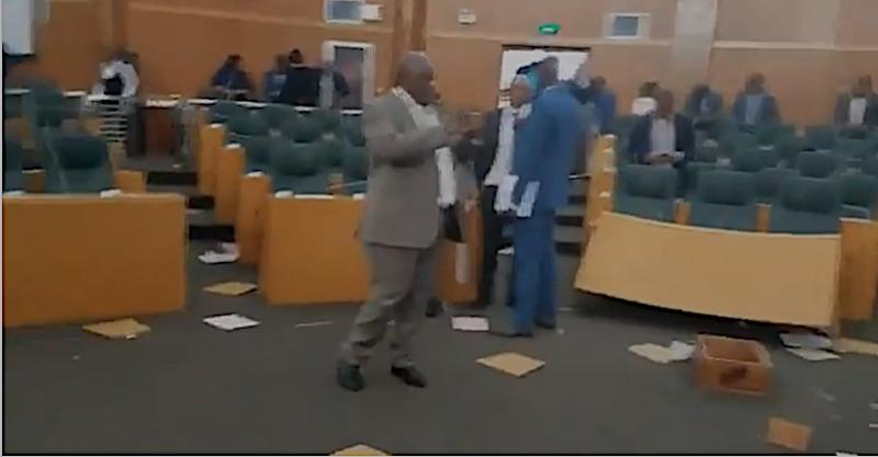 Prügelei Parlament Lesotho